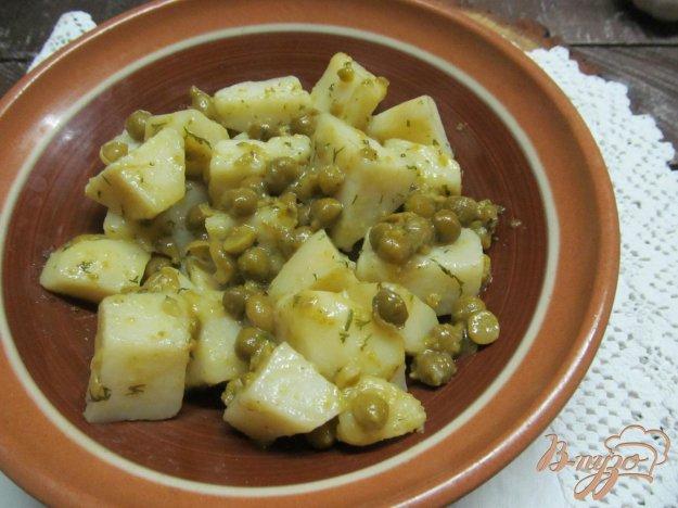 фото рецепта: Картофель с горошком
