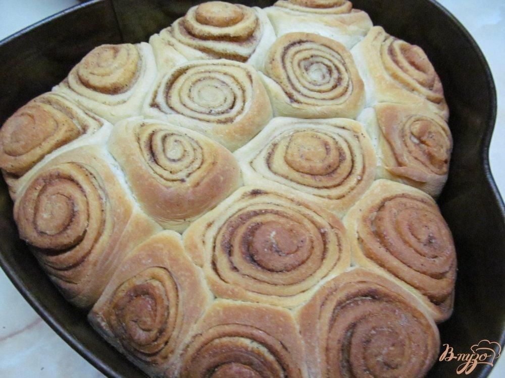 Фото приготовление рецепта: Булочки Синнабон шаг №9