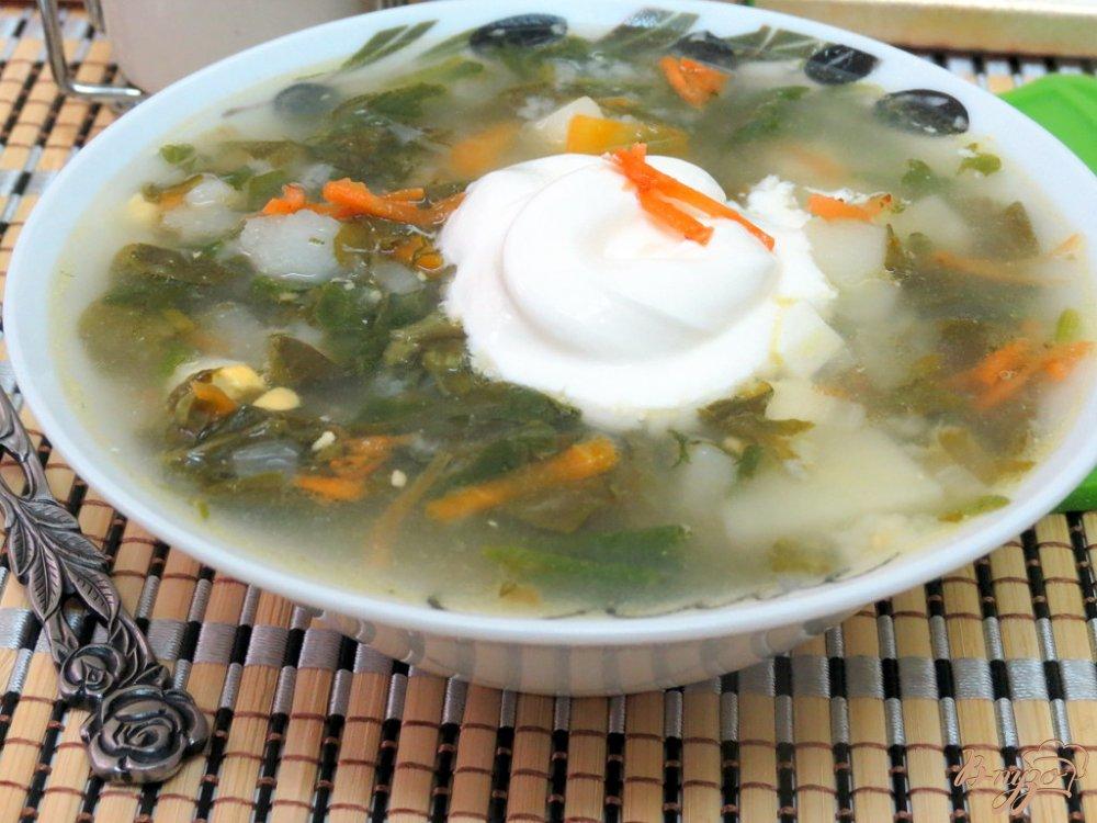 Фото приготовление рецепта: Суп со щавелем и шпинатом (постный) шаг №11