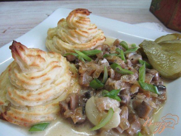 фото рецепта: Картофельные пирамидки с грибами.