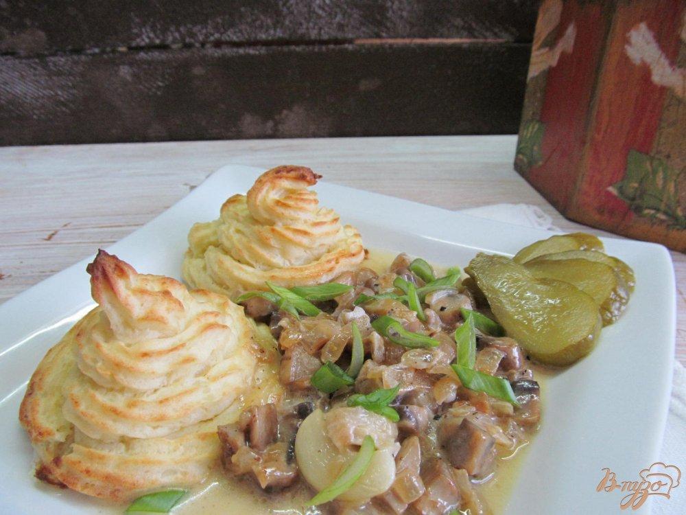 Фото приготовление рецепта: Картофельные пирамидки с грибами. шаг №10
