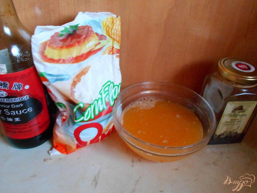 Фото приготовление рецепта: Свинина в апельсиново- соевом соусе шаг №3