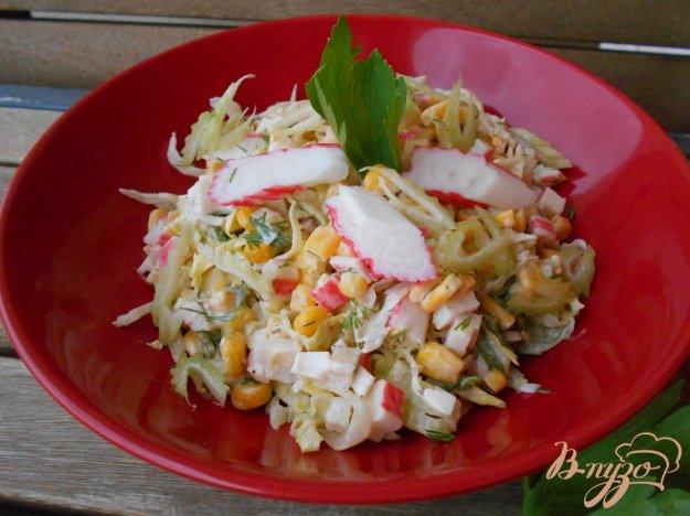 Салат из рыбы с крабовыми палочками