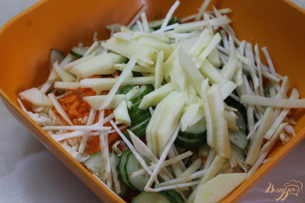 Фото приготовление рецепта: Салат для поддержания фигуры шаг №4