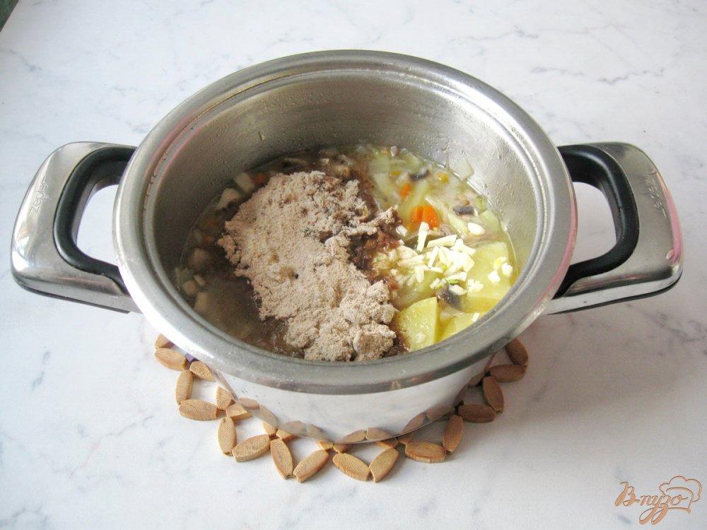 Фото приготовление рецепта: Суп-пюре из шампиньонов шаг №6