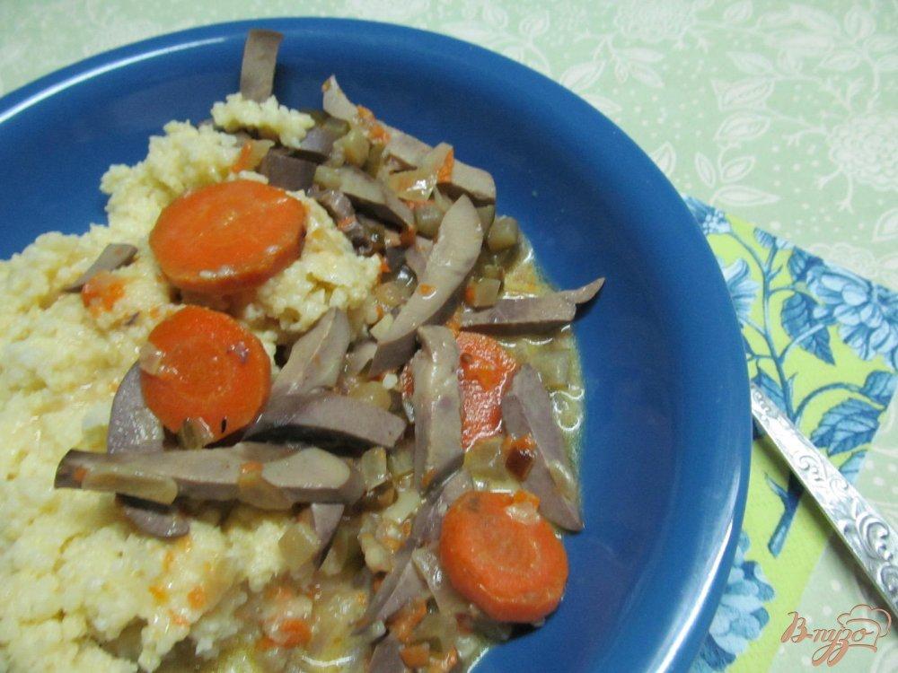 Фото приготовление рецепта: Почки в сметанном соусе шаг №7