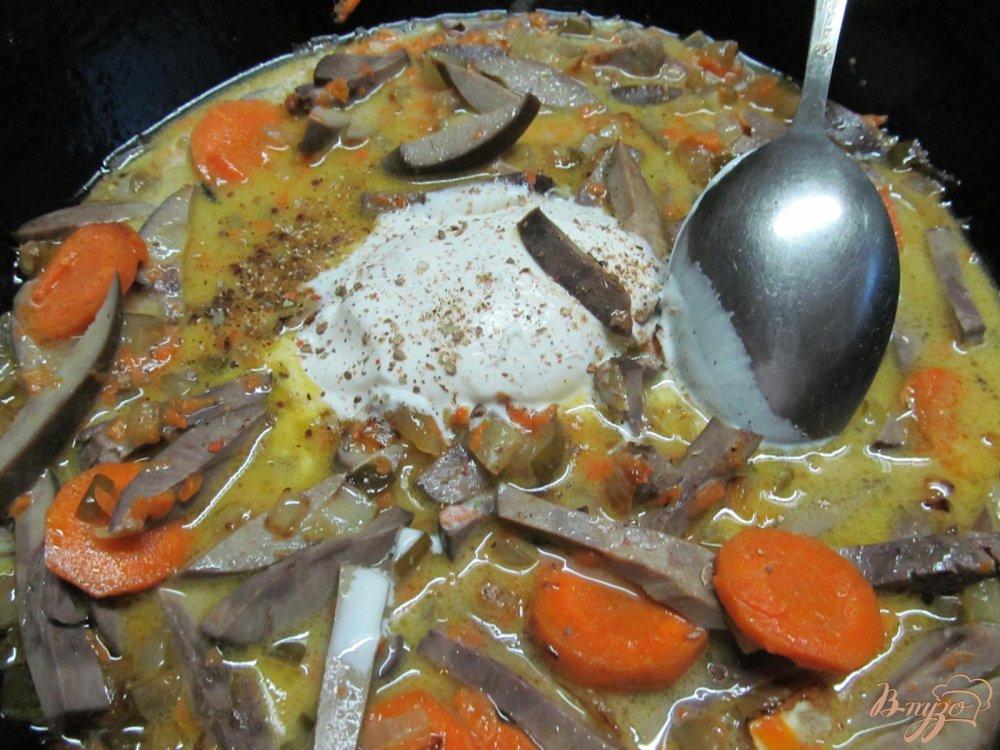 Фото приготовление рецепта: Почки в сметанном соусе шаг №6