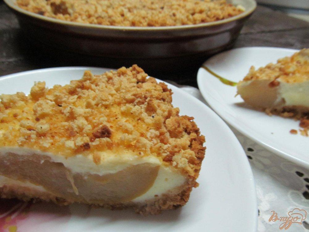 Фото приготовление рецепта: Пирог с пьяной грушей шаг №11