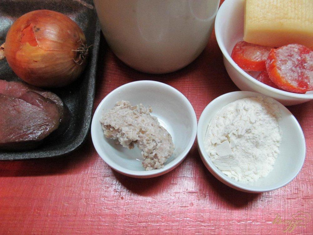 Фото приготовление рецепта: Печень под овощами шаг №1