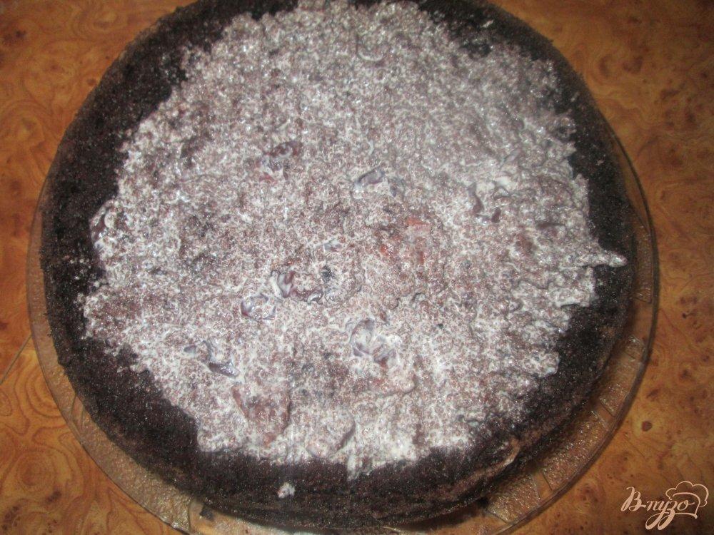 Фото приготовление рецепта: Шифоновый бисквит с вишней шаг №10