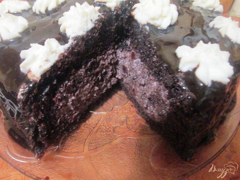 Фото приготовление рецепта: Шифоновый бисквит с вишней шаг №13