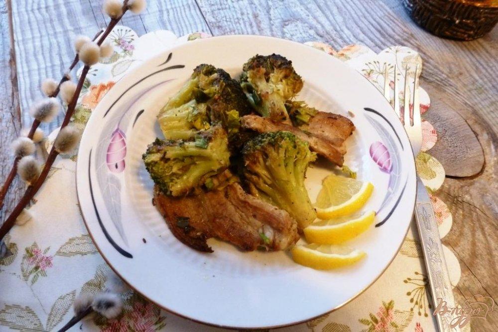 Фото приготовление рецепта: Брокколи с грудинкой шаг №6