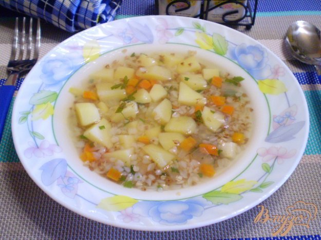 фото рецепта: Детский суп с гречкой