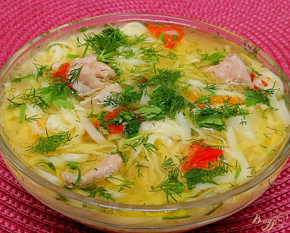 Фото приготовление рецепта: Суп с домашней лапшой шаг №11
