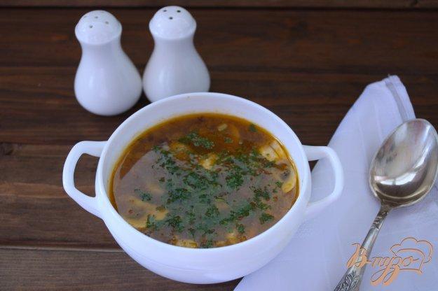 фото рецепта: Вкусный грибной суп с томатом