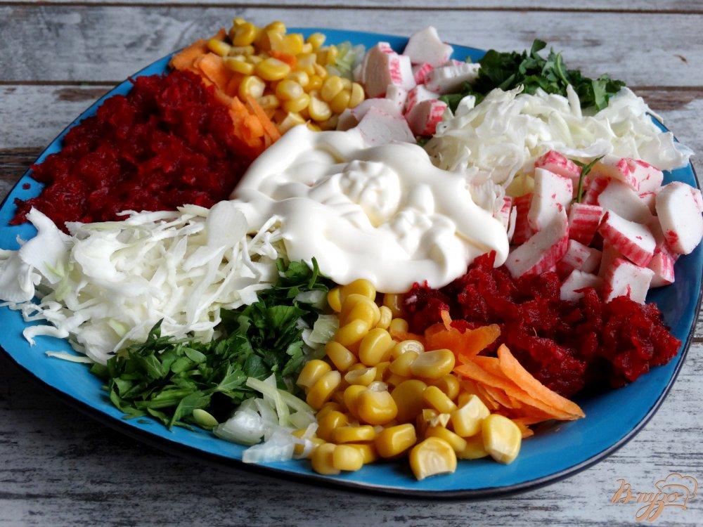 Фото приготовление рецепта: Салат Козел в огороде шаг №8