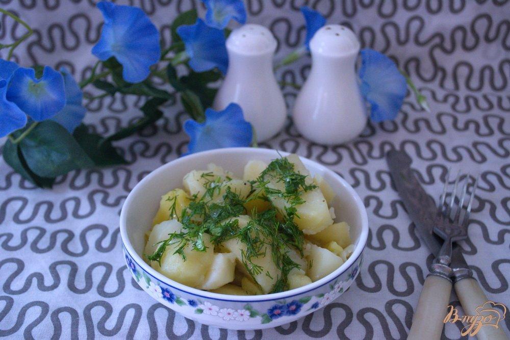 Фото приготовление рецепта: Картошка с двойным маслом шаг №7