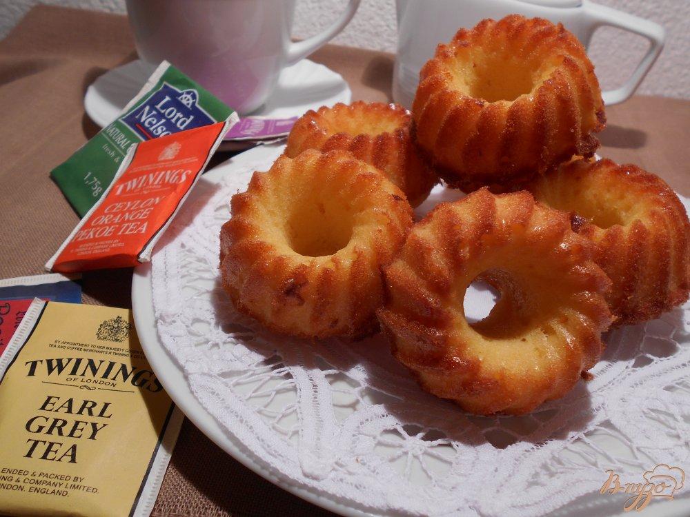 Фото приготовление рецепта: Апельсиновые кексы шаг №6