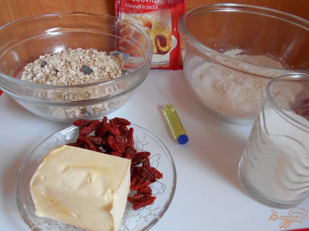 Рецепт Овсяное печенье с ягодами годжи