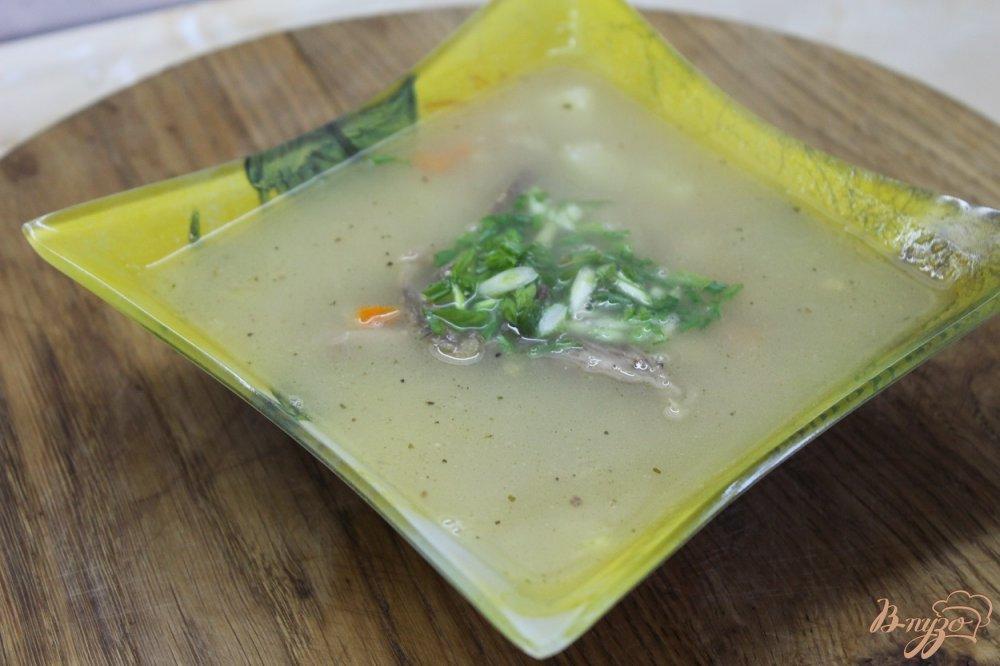Фото приготовление рецепта: Суп с нутом и фасолью с курицей шаг №7