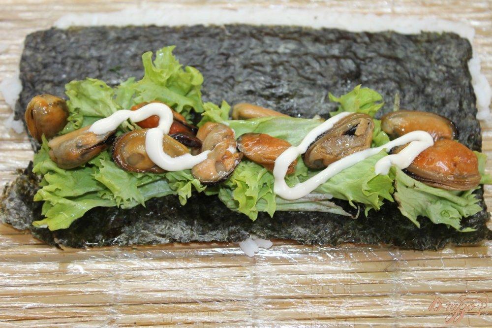 мидии салат с морской капустой рецепт