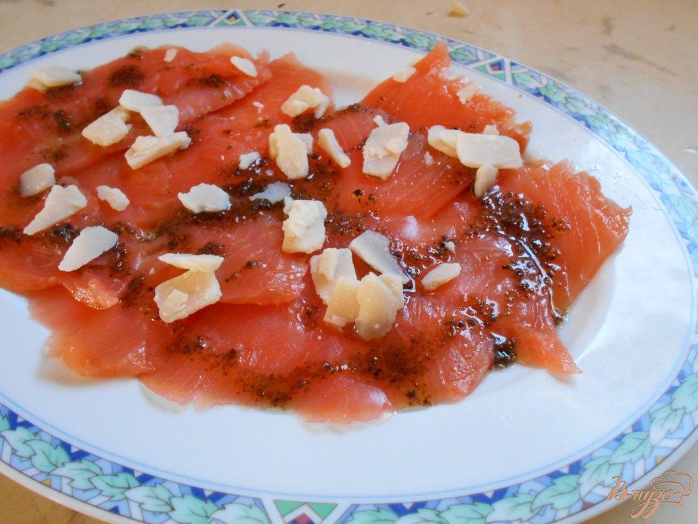 Фото приготовление рецепта: Карпаччо из лосося шаг №3