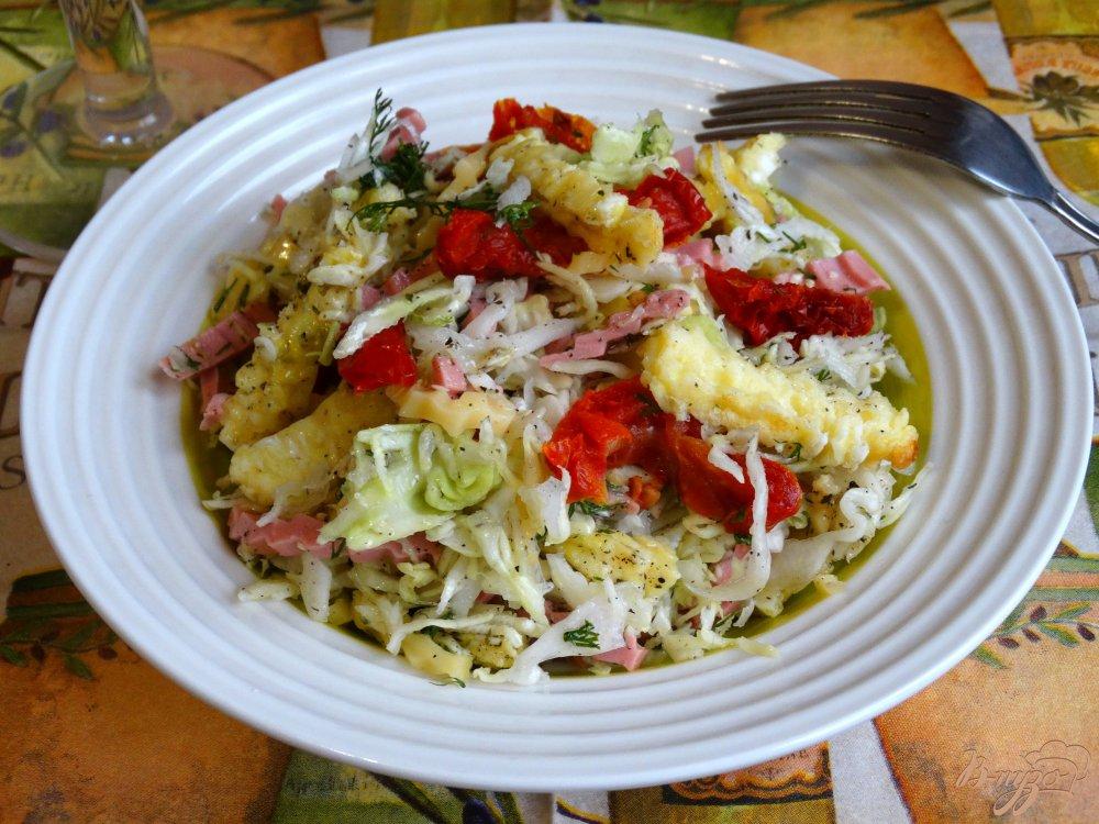 Рецепт омлетного салата с