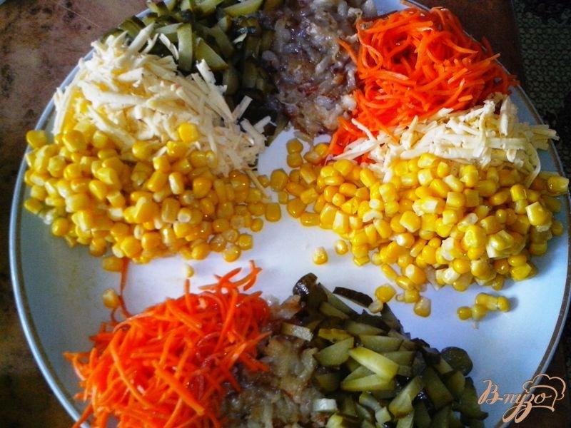 Фото приготовление рецепта: Праздничный салат