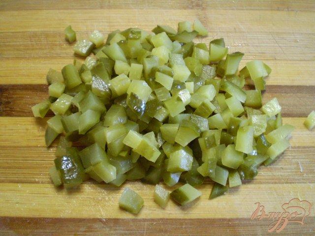 Фото приготовление рецепта: Овощной зимний салат шаг №4