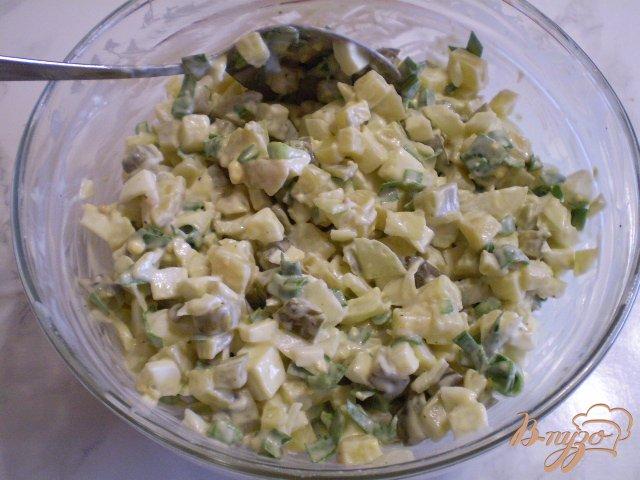 Фото приготовление рецепта: Овощной зимний салат шаг №8