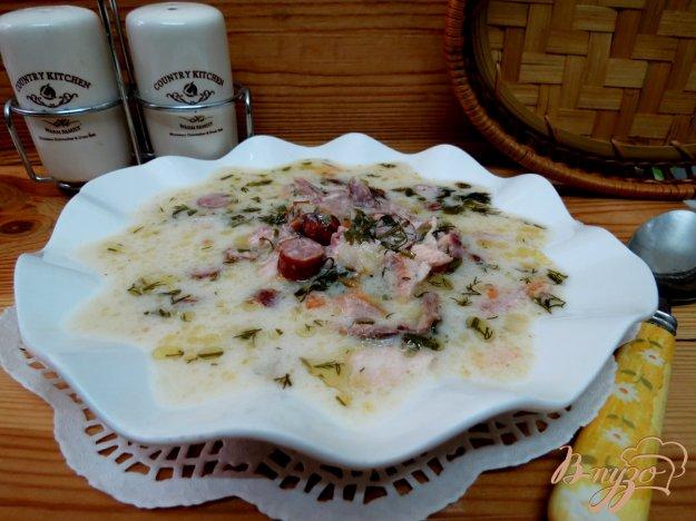 фото рецепта: Суп сливочный с копчёностями