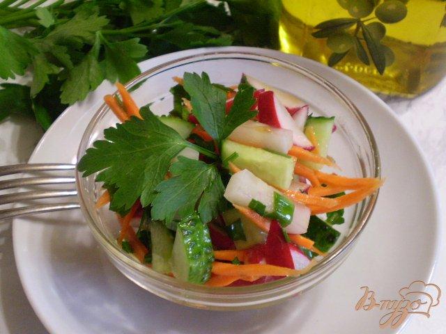 Фото приготовление рецепта: Весенний салат с морковкой шаг №8