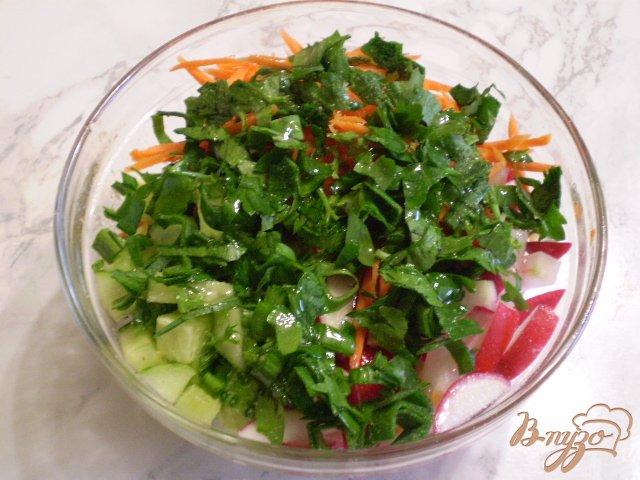 Фото приготовление рецепта: Весенний салат с морковкой шаг №6