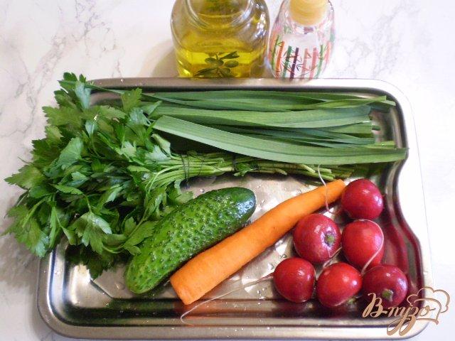 Фото приготовление рецепта: Весенний салат с морковкой шаг №1