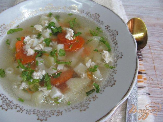 фото рецепта: Суп с яйцом и брынзой