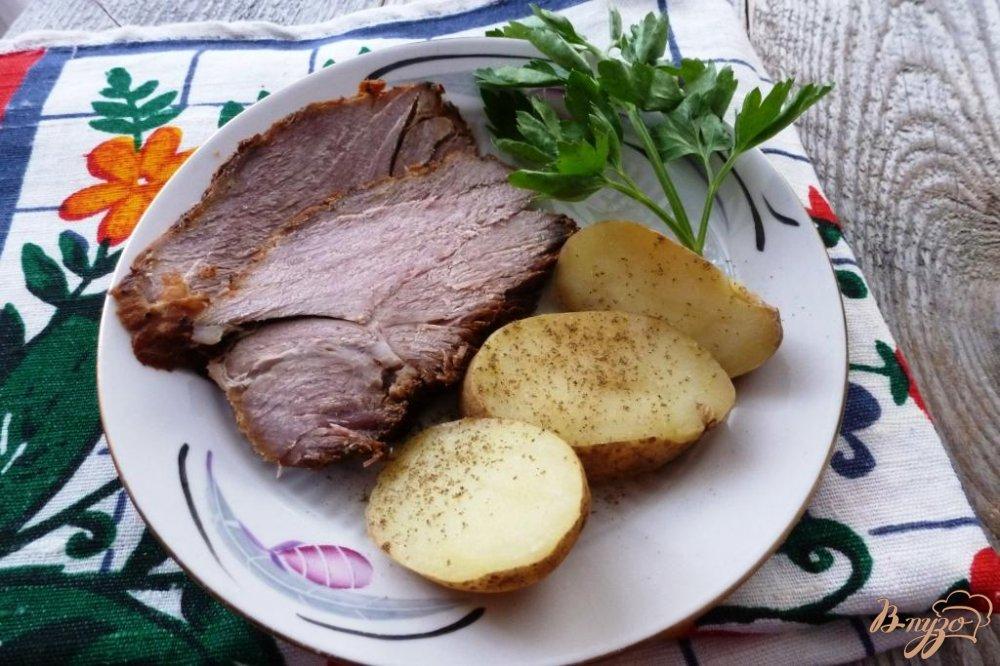 Фото приготовление рецепта: Запеченная свинина шаг №8