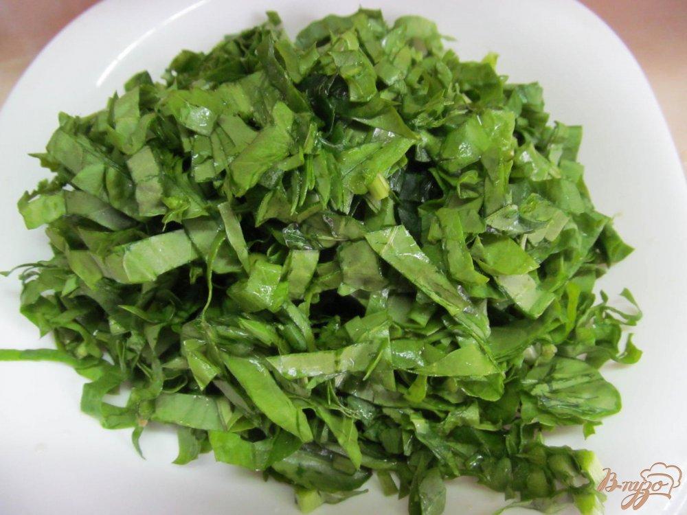 Фото приготовление рецепта: Зеленый борщ с томатом и пшеном шаг №10