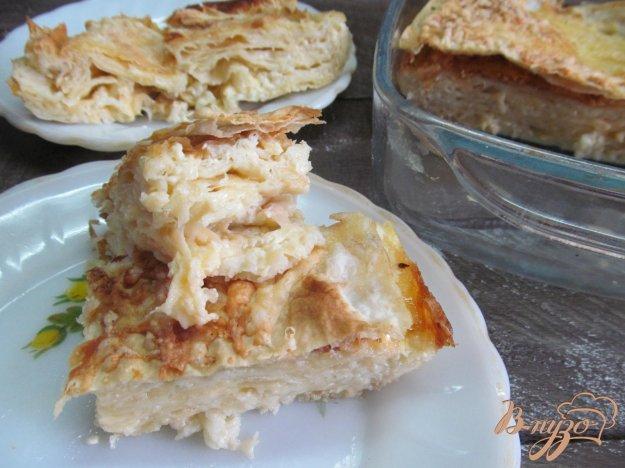 фото рецепта: Слоеный сырный пирог в лаваше