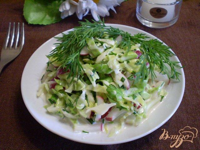 Фото приготовление рецепта: Салат из свежих овощей шаг №8