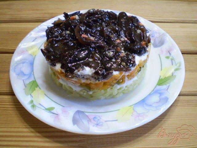 Фото приготовление рецепта: Грибной салат шаг №8
