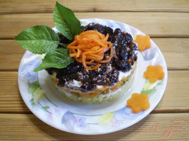 Фото приготовление рецепта: Грибной салат шаг №9