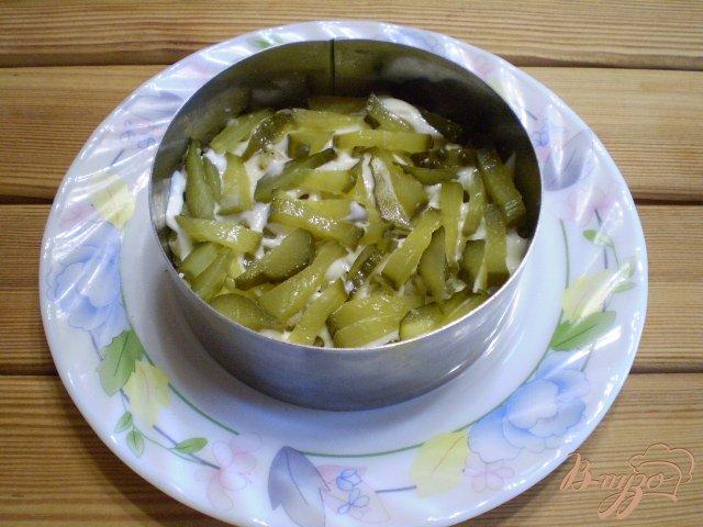 Фото приготовление рецепта: Грибной салат шаг №5
