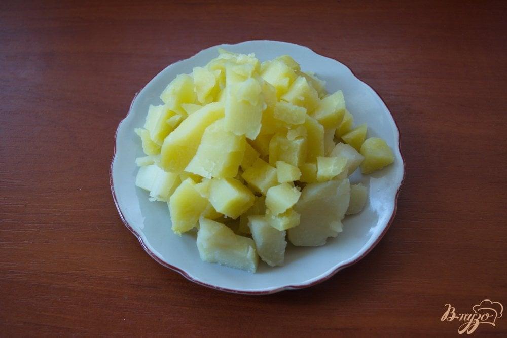 Фото приготовление рецепта: Винегрет с огурцом ( без капусты) шаг №3