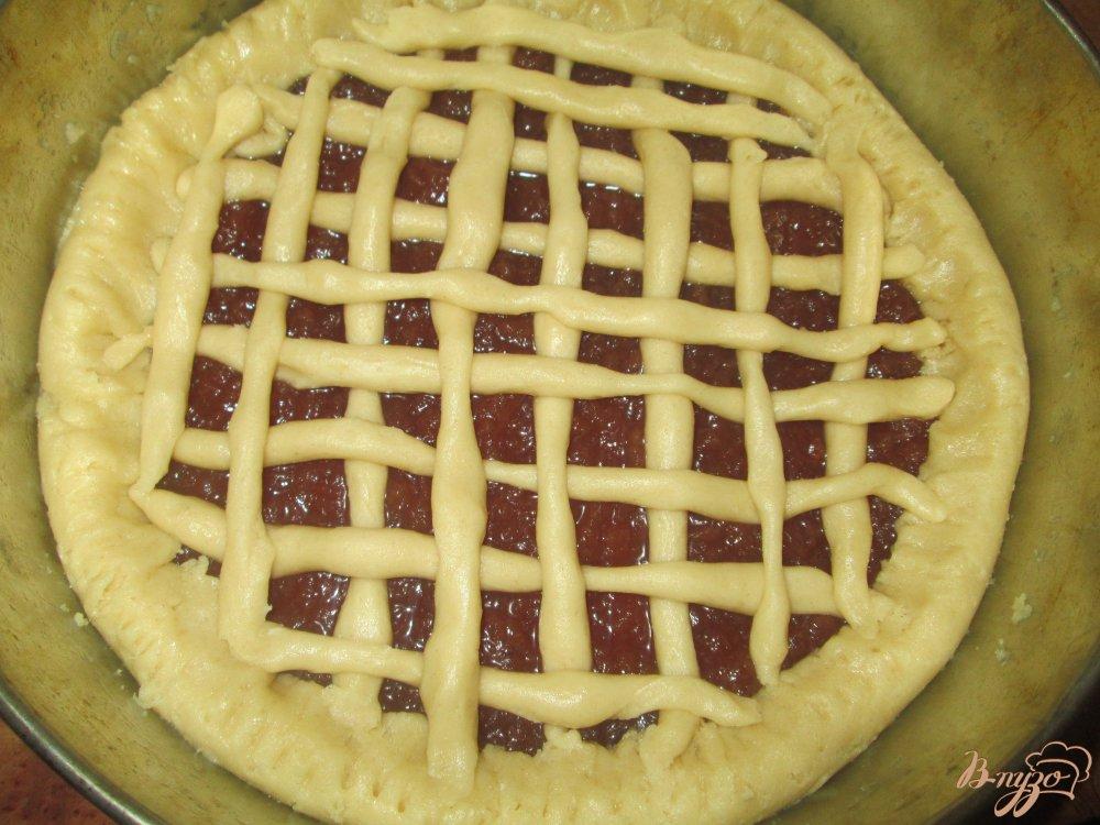 Пирог с вареньем из песочного теста рецепт с фото пошагово