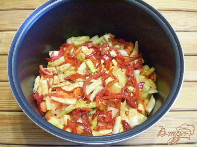 Фото приготовление рецепта: Рагу с фасолью шаг №6