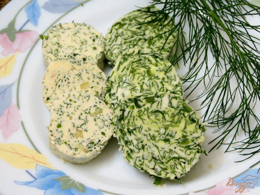 Фото приготовление рецепта: Масло с укропом и с чесноком шаг №7