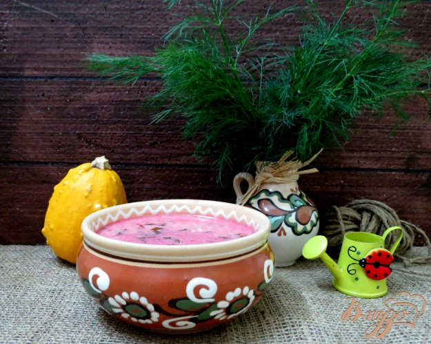 фото рецепта: Красный борщ с грибами и черемшой