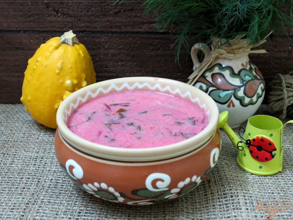 Фото приготовление рецепта: Красный борщ с грибами и черемшой шаг №9