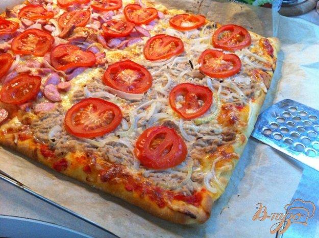 пицца готовом корже рецепт с фото