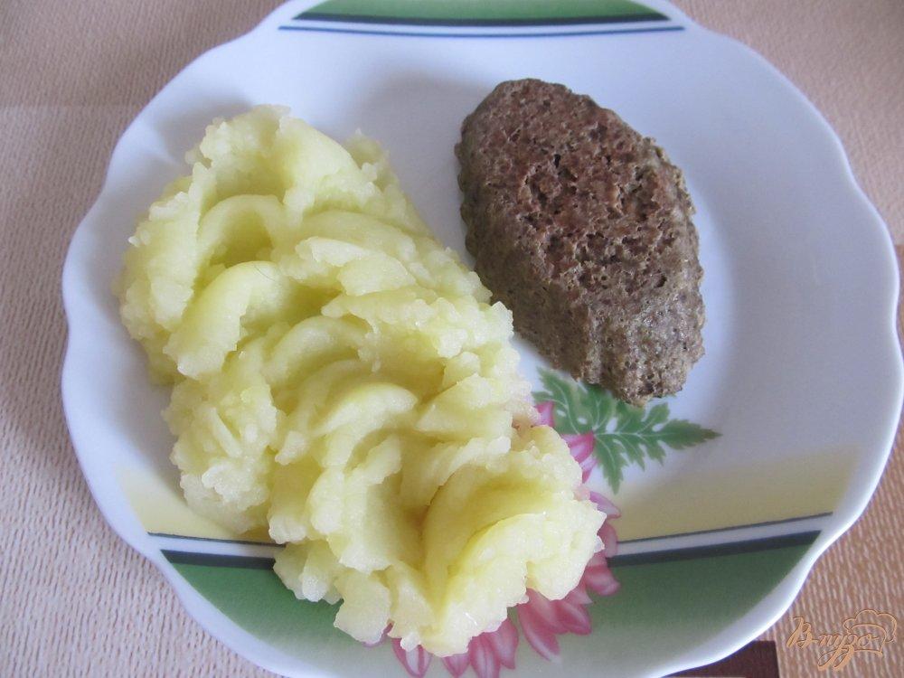 Фото приготовление рецепта: Суфле из говяжьей печени (детское меню) шаг №7